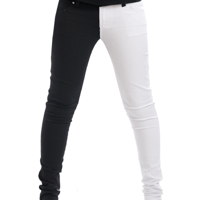 Black and white jeans split leg – Global fashion jeans models